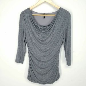 Maurices Gray Blouse Size S